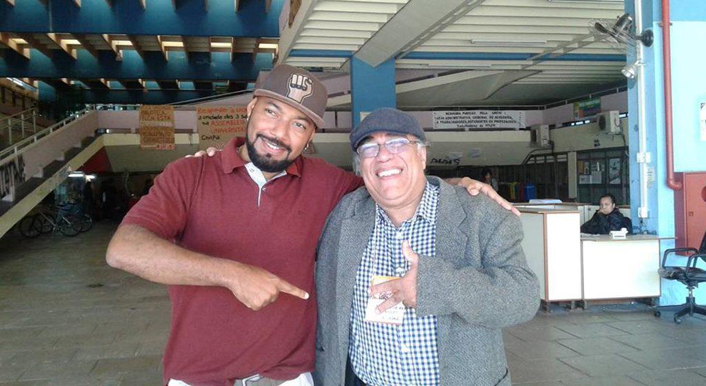 Douglas Belchior (à esq.) e Dennis de Oliveira. Foto: Arquivo pessoal