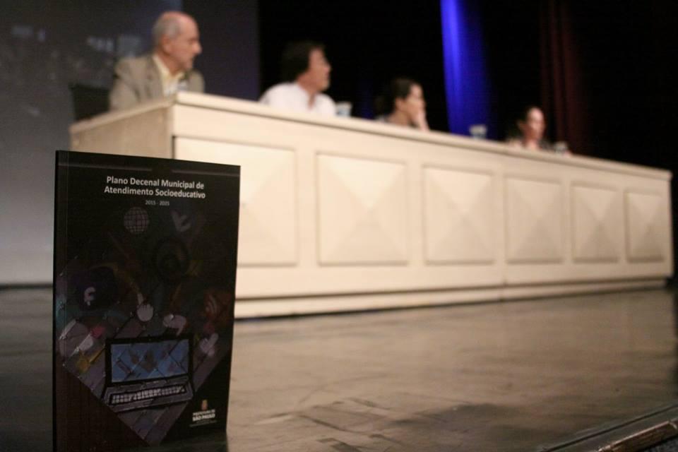 Lançamento do Plano Decenal Municipal de Atendimento Socioeducativo aconteceu no dia 09/12, em São Paulo / Crédito: divulgação