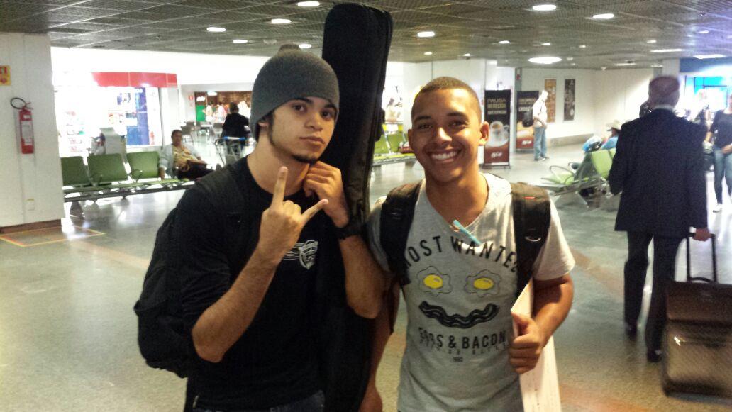 Igor e Emerson, de Redenção (CE), ganhadores na categoria música do Prêmio MPT na Escola (Crédito: Arquivo pessoal)