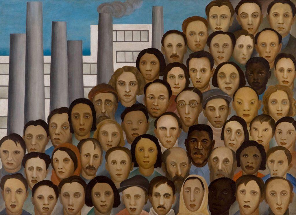 """Crédito: Reprodução do quadro """"Operários"""" (1933), de Tarsila do Amaral."""
