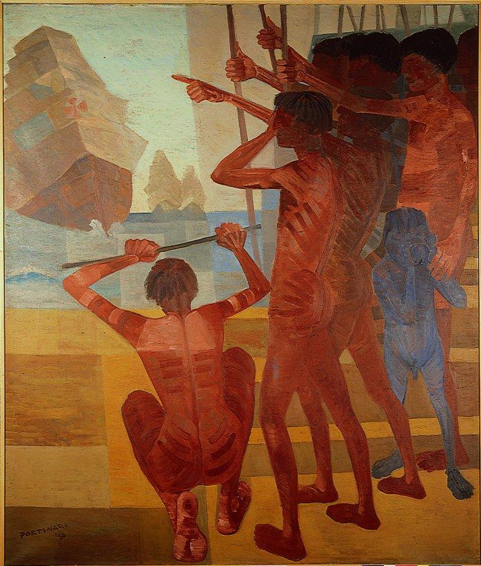 Tela Descobrimento do Brasil (1956), de Cândido Portinari