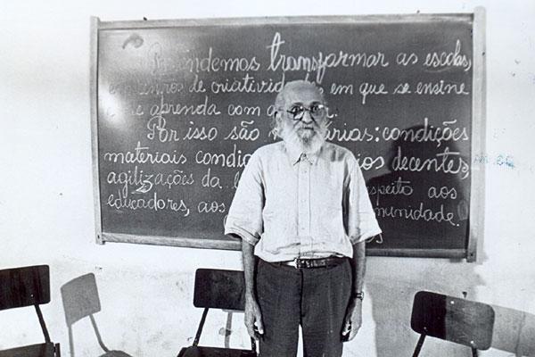 Paulo Freire (1921-1997), patrono da Educação Brasileira. Créditos: Centro de Referência Paulo Freire