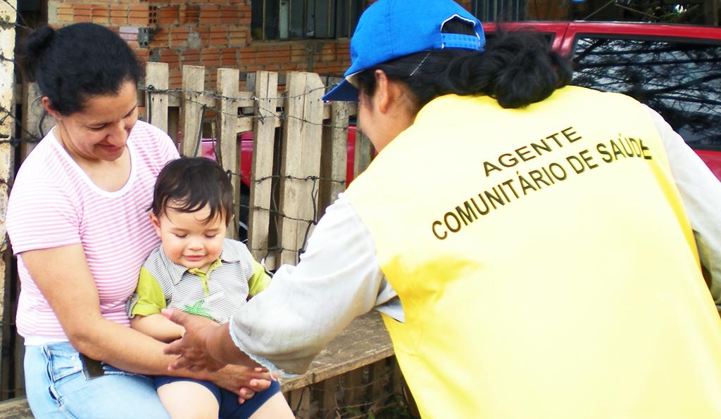 Agente Comunitária de Saúde. Crédito: Leticia Scheifer