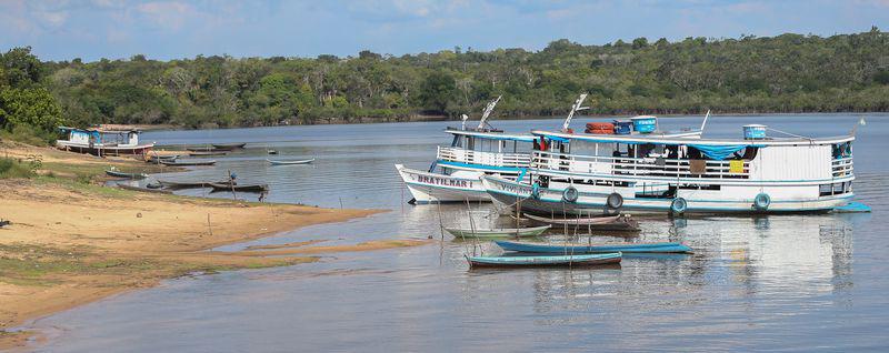 Deslocamento de Santarém (PA) em barco recreio até o encontro das águas (Tapajós e Amazônia). Crédito: José Cruz/Agência Brasil