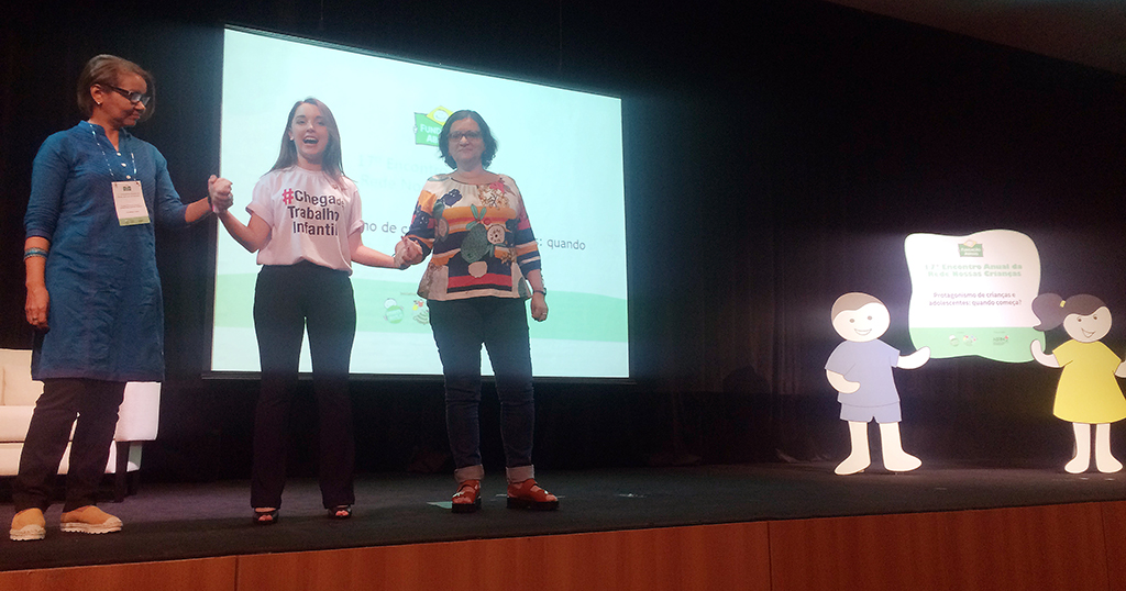 (Da esq. para a dir.) Rosangela Cunha, Anna Luiza Calixto e Irandi Pereira. Crédito: Bruna Ribeiro