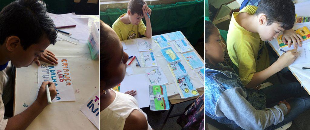 Canal Futura e Rede Peteca iniciam parceria contra o trabalho infantil Segunda etapa do projeto Pedra, Papel e Tesoura leva oficinas de educomunicação e quadrinhos a escolas da Região Sudeste, com foco no combate ao trabalho precoce. Crédito: Ana Luísa Vieira
