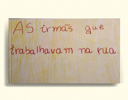 Durante as oficinas do Projeto Pedra, Papel e Tesoura, estudantes criam gibis contra o trabalho infantil. Crédito: Paulo Pucci