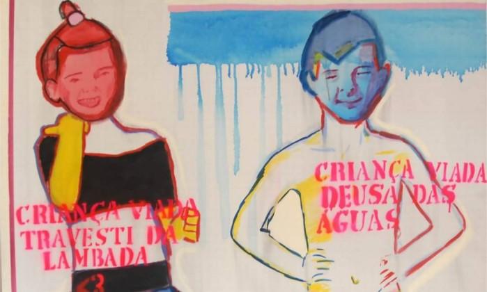 """Obra """"Travesti da Lambada e deusa das águas"""", de Bia Leite. (Crédito: Reprodução)"""